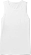 Slim-fit Cotton-jersey Tank Top - White