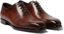 Berluti - Alessandro Capri Leather Whole-cut Oxford Shoes - Brown