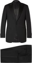 Canali - Black Slim-fit Satin-trimmed Wool Tuxedo - Black - XXXL,Canali - Black Slim-fit Satin-trimmed Wool Tuxedo - Black - S,Canali - Black Slim-fit Satin-trimmed Wool Tuxedo - Black