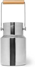 Stainless Steel And Beech Timbale Bucket - Silver