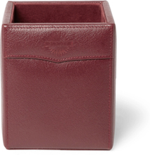 Textured-leather Pen Holder - Brown