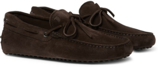 Gommino Suede Driving Shoes - Chocolate