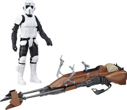 STAR WARS Episode VII Hero Series figur og fartøj, Stormtrooper & Assault Walker - ToysRUs.dk