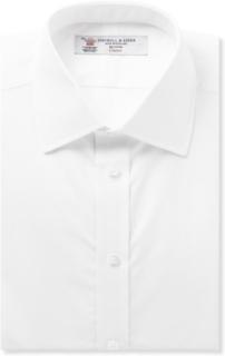 White Double-cuff Cotton Shirt - White