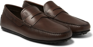 City Gommino Leather Penny Loafers - Brown