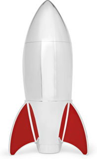 Rocket Sterling Silver And Enamel Cocktail Shaker - Silver
