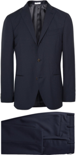 Blue Dover Slim-fit Virgin Wool Suit - Midnight blue