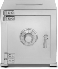 Sterling Silver Combination Safe Money Bank - Silver