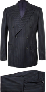 Harry's Navy Pinstriped Super 120s Wool Suit - Navy