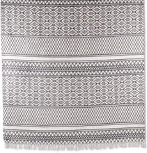 Stentvättad bomullsmatta Tarifa - Svart - 160x230 cm