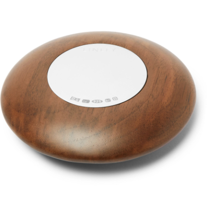Pebble Walnut And Sterling Silver Paperweight - Brown