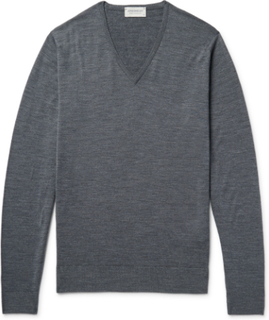 Blenheim Mélange Merino Wool Sweater - Charcoal