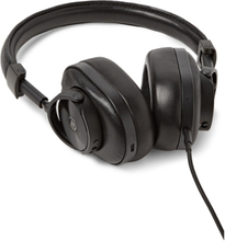 Mw60 Leather Wireless Over-ear Headphones - Black
