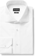 White Trofeo Cutaway-collar Cotton-poplin Shirt - White