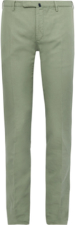 Slim-fit Garment-dyed Linen And Cotton-blend Chinos - Sage green