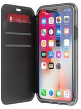 Griffin iPhone X Survivor Clear Wallet Black/Clear