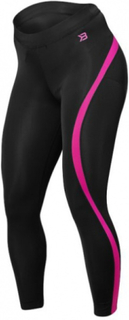 Better Bodies Curve Tights - Black/Pink