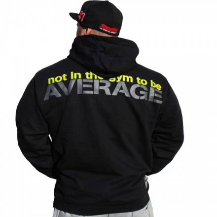 "Brachial Hoody ""Not Average"" Black - Hettegenser"