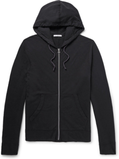 Supima Cotton-jersey Hoodie - Black
