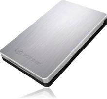 ICYBOX HDD kabinett, rymmer 1x2,5 SATA/SSD, max 9,5mm, silver