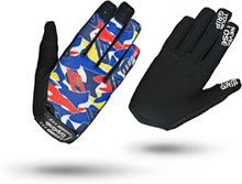 GripGrab Rebel Youngster Rugged Full Finger Gloves Barn blue camo S 2020 Cykelhandskar för barn