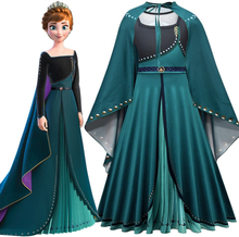 Disney Frozen 2 Anna Elsa Costume Princess Dress Elsa Cosplay Women Halloween Costume Frozen Elza Vestidos Adult/Girls Dress