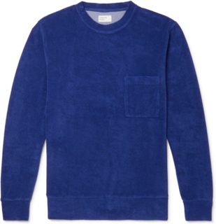 Universal Works - Cotton-blend Terry Sweatshirt - Blue - S,Universal Works - Cotton-blend Terry Sweatshirt - Blue - L,Universal Works - Cotton-blend Terry Sweatshirt - Blue - XS,Universal Works - Cotton-blend Terry Sweatshirt - Blue - XL,Universal Works -