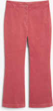 Cropped velvet trousers - Pink