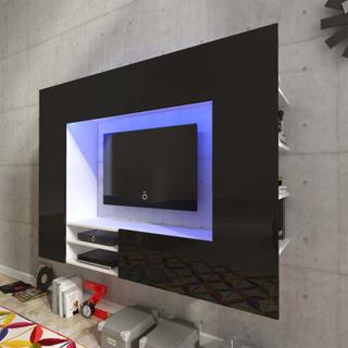 vidaXL TV-möbel högglans svart med LED 169,2 cm