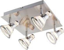 GLOBO Spotlight LED TAKIRO nickel och akryl 56956-4