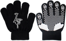 Skating sportswear accessories gloves full finger rhinestones