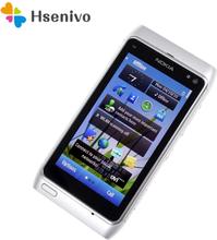 "Nokia N8 Refurbished-Original Nokia N8 Mobile Phone 3G WIFI GPS 12MP Camera 3.5"" Touch screen 16GB Storage phone free shipping"