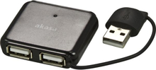 Akasa CONNECT 4S USB 2.0 hubi 4xtyyppi A portit musta