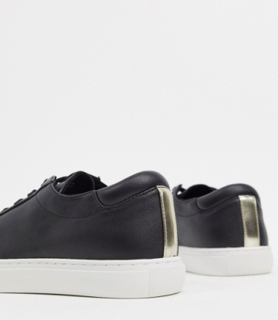 Kenneth Cole kam lace up trainers in black leather