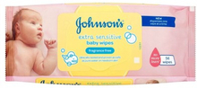 Johnson's Extra Sensitive Baby Wipes Fragrance Free 56 stk