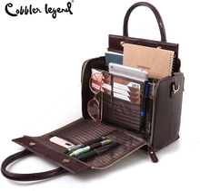 Cobbler Legend Multifunctional Large Genuine Leather Handbag Roomy Organizer Shoulder Crossbody Bag for Women 2019 Lady Tote