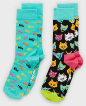 Happy Socks Cat Gift Box Sukat Kuviollinen
