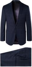 Hugo Boss - Navy Novan/ben Checked Super 130s Virgin Wool Suit - Blue - M,Hugo Boss - Navy Novan/ben Checked Super 130s Virgin Wool Suit - Blue - L,Hugo Boss - Navy Novan/ben Checked Super 130s Virgin Wool Suit - Blue - XL,Hugo Boss - Navy Novan/ben Check