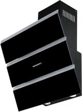 Vägghängd köksfläkt Kaskade svart eller vit glas 60cm/80cm/90cm - svart - 60 cm
