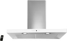 Lyx vägghängd köksfläkt PACIFIC 60cm / 90 cm rostfritt stål+ vit/ svart glas - svart - 60 cm