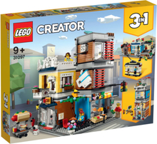 LEGO Creator Byhus med dyrehandel og café