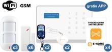 S-Home alarmsystem - Wifi Deluxe alarmpakke