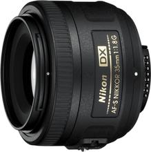 AF-S Dx Nikkor 35mm f/1.8G Sort Objektiv til Nikon