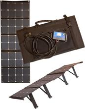 Solpanel Set 120W Vikbar(Sunpower)