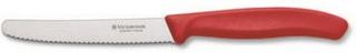 Victorinox Tomat- & korvkniv, 11 cm, rött handtag, vågig & rund spets Victorinox
