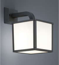 Væglampe H28 x B18 cm 1 x E27 5W LED - Antracit