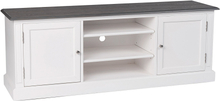 Viktoria TV-bänk 160x60 - Vit/grå