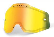 100% Vented Dual Vaihtolinssit, gold / mirror 2020 Ajolasitarvikkeet