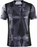 Craft Devotion SS Shirt M GEO BLACK - Utgående Fär