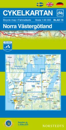 Norstedts Sykkelkart Ark 18 Nordre Västergötland